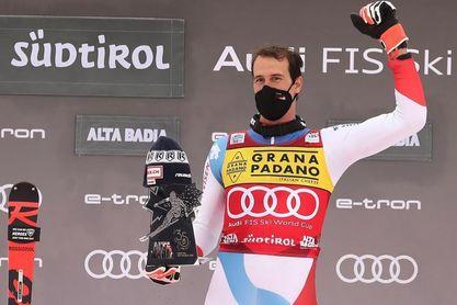 Zenhausern se estrena en lo alto del podio en el eslalon de Alta Badia