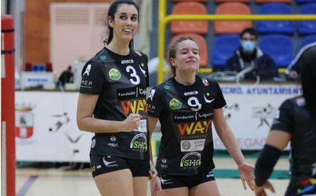 Judith Porras (3) y María Rodríguez (9), durante un partido de esta temporada.