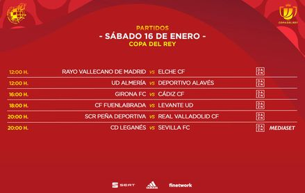 Horario para el Leganés-Sevilla de Copa del Rey.