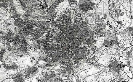 Así se ve Madrid desde el espacio tras el paso de Filomena.
