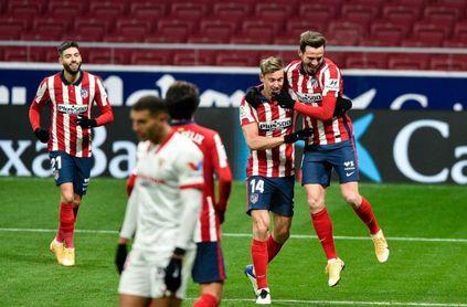 Atlético 2-0 Sevilla FC: El escalón ante el 'Campeón de invierno' es muy evidente