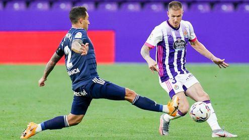 Raúl Carnero será baja en el Real Valladolid para lo que resta de temporada.