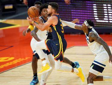 130-108. Warriors con Curry y Wiggins, la pesadilla de los Timberwolves