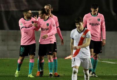 1-2. Messi y De Jong rescatan al Barcelona del sufrimiento en Vallecas