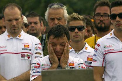 El italiano Fausto Gresini continúa con su lenta pero constante recuperación