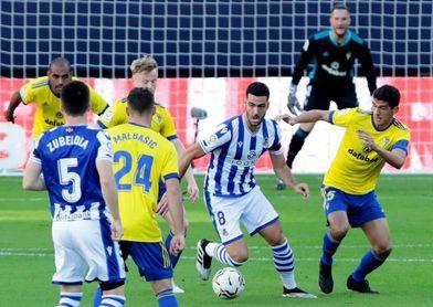 El Cádiz nunca ha ganado en San Sebastián y solo ha marcado tres goles