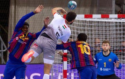 37-30. El Veszprém solo aguanta el ritmo del Barça en la primera mitad