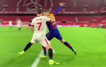 """La pataleta del Barcelona en sus redes por el supuesto """"penalti"""" a Jordi Alba"""