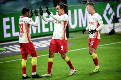 El Leipzig y Dani Olmo persiguen al Bayern (2-1)