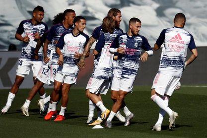 Hazard, Rodrygo, Valverde y Militao saltan al césped