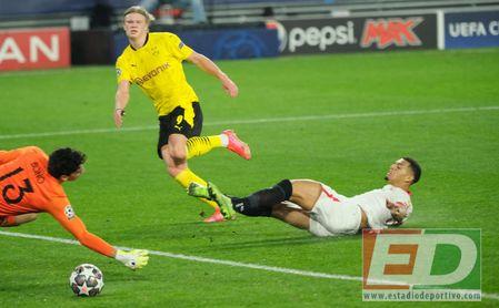 Sevilla FC 2-3 Borussia Dortmund: Una hemorragia de 45' desangra al Sevilla