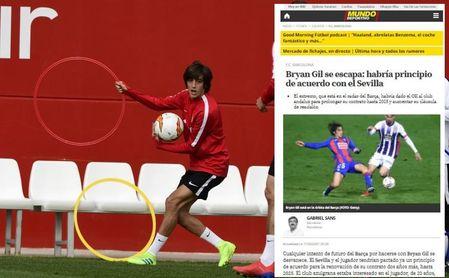 La nueva cláusula de Bryan Gil en el Sevilla asusta en Barcelona