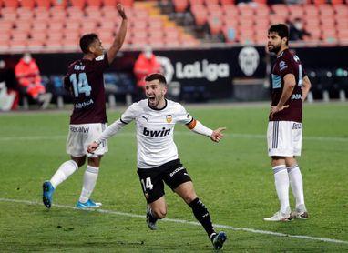 2-0. El Valencia tumba al Celta en el tiempo de prolongación