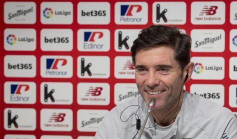 """Marcelino cree que """"no merece la pena desgastarse"""" pensando en la Copa"""
