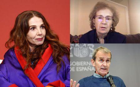 Margarita del Val y Fernando Simón responden a la negacionista Victoria Abril.