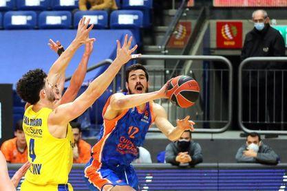 84-72. La defensa del Maccabi asfixia a un impotente Valencia