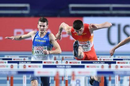 Asier Martínez cuarto en 60 m vallas a 4 centésimas del bronce