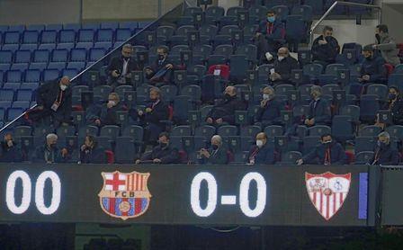 El Barça solo ha ganado el 62,5% de sus partidos en el Camp Nou sin público