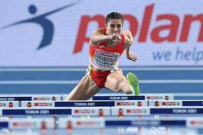 Errandonea eliminada en semifinales de 60 metros vallas