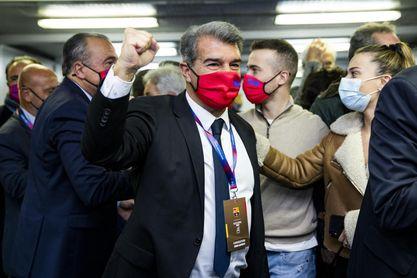 Joan Laporta, nuevo presidente del FC Barcelona, vuelve a lo grande