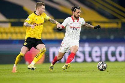 El Sevilla se quedó a nada de forzar la prórroga contra el Dortmund.