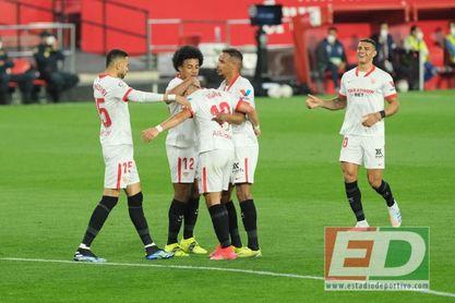 La elaboración en los goles del Sevilla FC que sólo supera el City de Guardiola