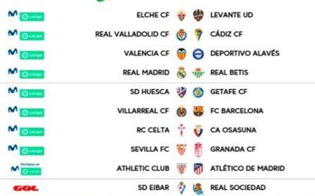 Betis y Sevilla ya conocen sus horarios para Real Madrid y Granada, respectivamente.