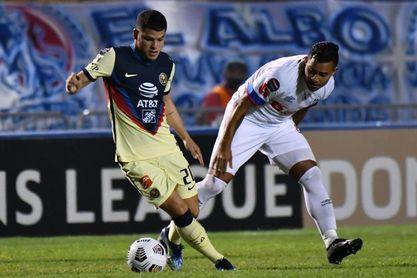 2-1. El América de México toma ventaja ante el Olimpia de Honduras