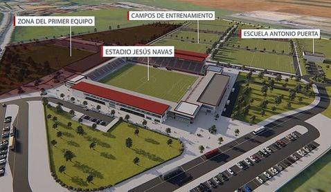 El Sevilla iniciará a final de mes las obras del nuevo 'búnker' para el primer equipo.