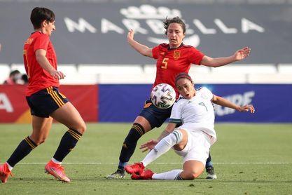 3-0. España impone su pegada ante México