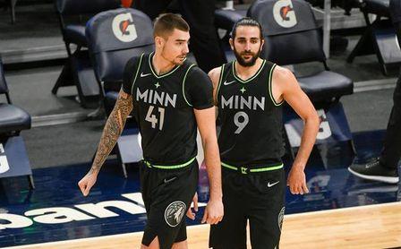 119-111. Rubio y Hernangómez brillan en la victoria de los Timberwolves sobre los Hawks