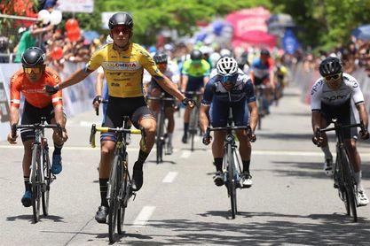 Nelson Soto gana al esprint y Sevilla mantiene liderato de Vuelta a Colombia