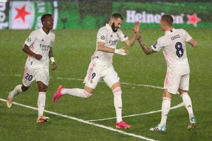 Benzema iguala a Raúl como cuarto máximo goleador de la Liga de Campeones