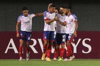 5-0. Bahía golea a Guabirá y asume control en Grupo B de la Copa Sudamericana