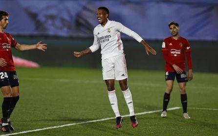 Real Madrid 2-0 Osasuna: Militao sostiene el pulso del Atlético y pasa la presión a Barça y Sevilla