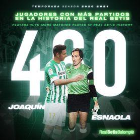 Nuevo récord de Joaquín como bético