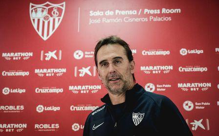 Lopetegui habla del estado físico de Koundé y En-Nesyri y de los objetivos del Sevilla si vence al Real Madrid