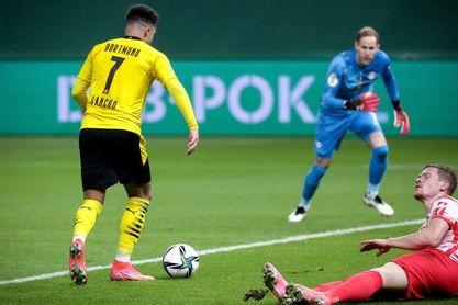 1-4. Dobletes de Sancho y Haaland le dan al Dortmund la Copa de Alemania