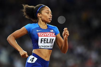Allyson Felix corre los 400 metros en 50.88 con 35 años