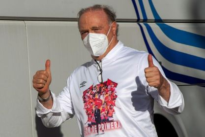 El Mallorca celebra el ascenso en el estadio Son Moix