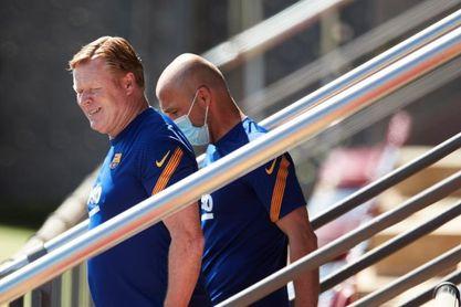 Entrenamiento del primer equipo del FC Barcelona