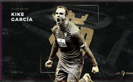 Kike García firma con Osasuna hasta 2024.