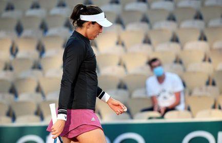 Muguruza no supera la primera ronda de Roland Garros