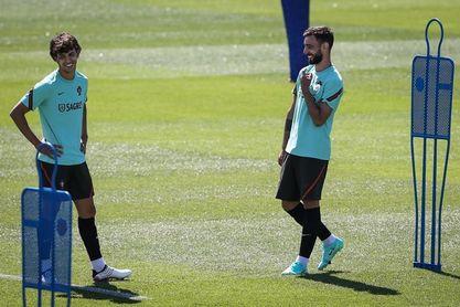 Portugal, que juega el viernes contra España, sólo piensa en Hungría