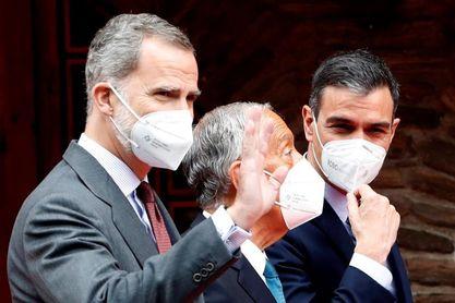 Felipe VI, Sánchez y Rebelo de Sousa con la candidatura España-Portugal 2030
