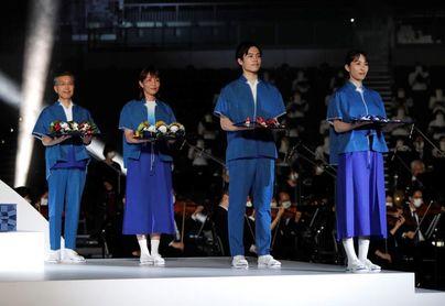 Tokio 2020 muestra el atrezo y la música de las ceremonias en la entrega de medallas