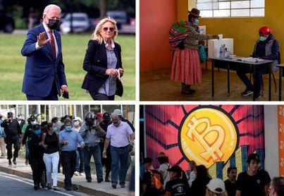 Biden, bitcóin, elecciones y fútbol, claves de la semana en las Américas