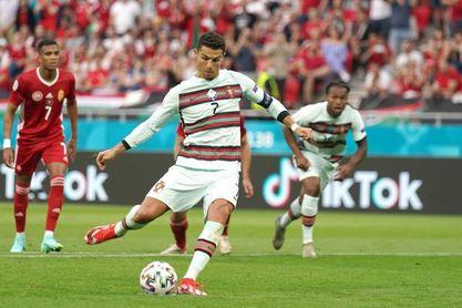 Cristiano bate el récord de goles e iguala con Schick y Lukaku
