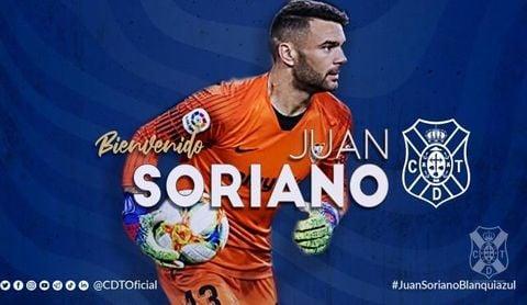 Juan Soriano, ex del Sevilla, ficha por el Tenerife