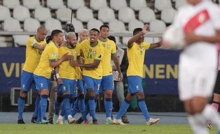 4-0. Brasil golea a Perú al ritmo de Neymar y encauza su pase a cuartos